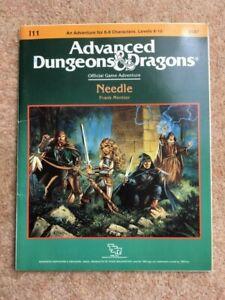 "Advanced Dungeons & Dragons ""Needle"" I11 adventure module. Very rare TSR9187"