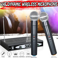 VHF Wireless Dynamic Microphone System 2 Channels Handheld KTV Mic with