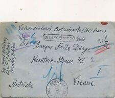 Nr.29198 Briefmarken Reco  Belgien Geld Brief  Brüssel  nach Wien 1923