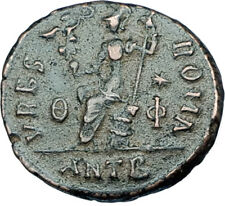 VALENTINIAN II 378AD Antioch Authentic Ancient Roman Coin VRBS ROMA i65920