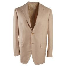NWT $7495 KITON Tan Soft-Brushed Cashmere and Silk Sport Coat 38 R (Eu 48)