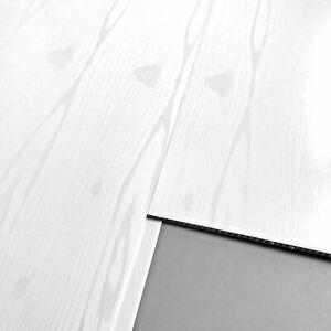 4 Matt White Ash Wall Cladding Ceiling Kitchen PVC Plastic Panel 5mm UPVC