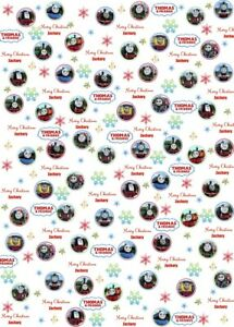Personalised Thomas and Friends Christmas Wrapping Paper.