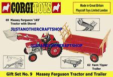 Corgi Toys GS 9 Massey Ferguson Gift Set A3 Size Poster Leaflet Shop Sign 69 62