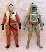 Star Wars Rebels Boba Fett & The Force Awakens Poe Dameron  Action Figure F P+P