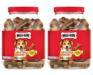 2 Pack Milk-Bone Soft & Chewy Chicken Recipe Dog Snacks (37 oz.)