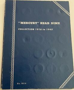 76 PIECE HIGH END MERCURY HEAD DIME COLLECTION IN BLUE WHITMAN ALBUM