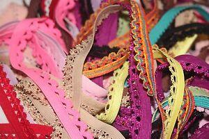 "LOT 20 yards RANDOM Grab Bag picot edged lingerie sewing elastic 1/2"" 3/8"