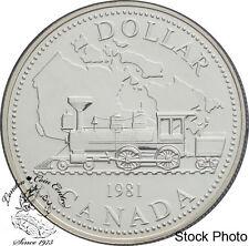 Canada: 1981 $1 Trans-Canada Railway Centennial BU Silver Dollar -Capsule Only