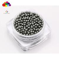 1000 pcs 12g Glass Milk yellow Micro Beads small No Hole 1.5-2mm Nail Art
