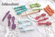 18 pcs Miniature Vaisselle Cuisine Fimo Décor Dollhouse Maison de Poupée Scrap