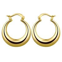 14K Gold Plated  31mm Round Hoop Earrings