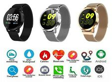 NEW SMART WATCH WITH METAL MAGNET STRAP HEART RATE ACTIVITY CALORIE STEP COUNTER