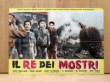 IL RE DEI MOSTRI fotobusta poster Godzilla Raids Again-Gojira no Gyakushu AO35