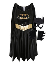 Adult DC Comics Caped Batgirl Fancy Dress Costume Size 8-10 12-14 16-18 20-22-24