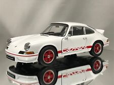 Welly NEX Porsche 911 Carrera RS 2.7 1973 White and Red Diecast Model Car 1:18