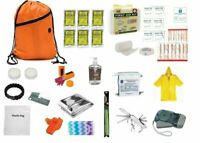 3 Day Emergency Survival Kit Food Water Whistle Bag Sack Earthquake ORANGE