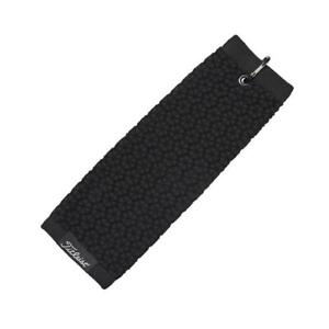 "Titleist TriFold Golf Towel Black 16"" x 16"""