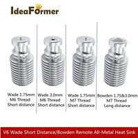 1Pc V6 Extruder J-head Bowden or Wade Aluminum Heat Sink For 1.75/3.0mm Filament