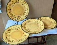 Set of 4 Dinner Plates in the Italian Villa Pattern By Home Trends