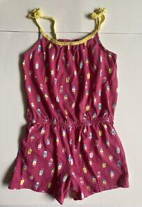 GYMBOREE ROMPER 8 Pink Popsicles Shorts Outfit SPRING SUMMER jumper