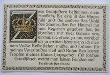 Klingspor Patriotik, Sprüche, Friedrich der Große, Zwei Triebfedern (49416)
