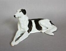 Porzellanfigur liegender Windhund Barsoi  Max Valentin Rosenthal 1914 Figur Hund