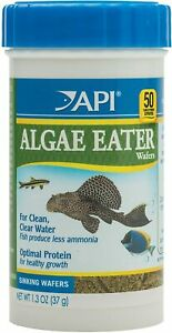 API Algae EATER WAFERS Algae Wafer Fish Food 1.3-Ounce Container Clean water