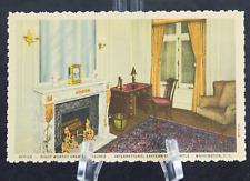 Postcard Office Right Worthy Grand Treasurer Fireplace Washington DC