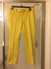 Banana Republic Golden Yellow & Yellow Print Cropped NWT Pants 4 P