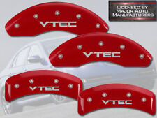 "2003-2011 Honda Element Front + Rear Red MGP Brake Disc Caliper Covers ""VTEC"""