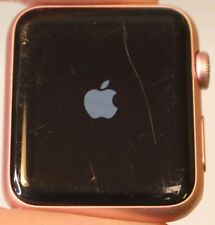 APPLE WATCH 42MM SERIES 1 GOLD ALUMINUM - FACE ONLY - GPS ONLY - FAIR COND.