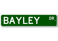 BAYLEY Street Sign - Personalized Last Name Signs