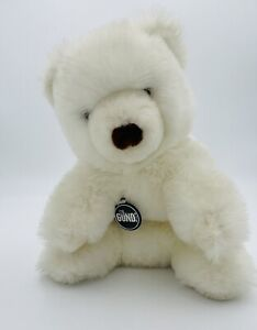 """Vintage Gund Plush Bear 1970s White Collectors Classics Limited Edition 10"""""""