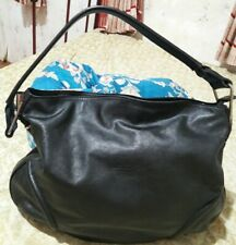 MARSHAL Pearl Of The Crown Genuine Leather Large Hobo Black Bag