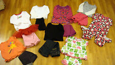 Lot Of 6 Girls Outfits 2 Pair Pajamas Size 24 Months Faded Glory Carters Cheroke