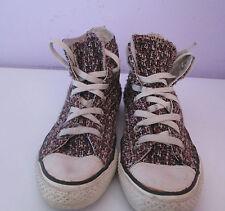 VTG Unisex Chuck Taylor CONVERSE Pink Pattern Hi Top Canvas Trainer/Shoe Size 5.