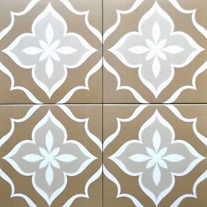 8X8 Glazed Flora Weathered Brown Porcelain Stoneware Tile Floor Wall (BOX OF 12)