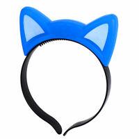Party Flash LED Cat Ear Decor Light Blinking Hair Band Hairband Headband Blue