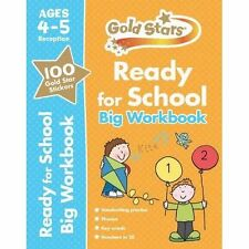 Gold Stars Ready for School Big Workbook Ages 4-5 Reception phonics maths englis