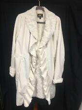 Dennis Basso Luxury Ladies Faux Sheepskin Coat Cream Fur Lined & Suit Cover