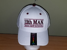 Texas A&M NCAA 12th Man White Adjustable NEW Hat