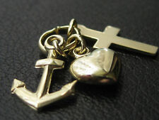 Glaube-Liebe-Hoffnung Gold 333 Anhänger Kreuz-Herz-Anker / 028