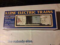K-line K647403 Christmas Boxcar Passenger Car Vintage Excellent Electric Train