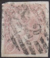 SPAIN 1865   2 R Imperf  Used  Cat 60 Euro (A242) Has a tear