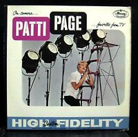 Patti Page - On Camera Favorites From Tv LP VG MG-20398 Mono 1st Vinyl Record