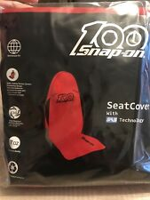Snap-on 2 X Red 100th Anniversary H/duty Universal Seat Cover Car Van Truck