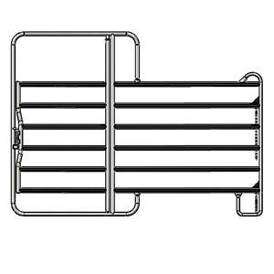 Weidepanel mit Tor 3,0m Panel Paddock Weidezaun Zaunelement Pferdebox 3m Pferd