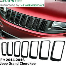 7pcs Gloss Black Front Grille Trim Ring Insert for Jeep Grand Cherokee 2014-2016 (Fits: Jeep)
