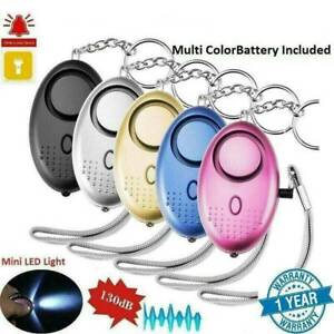 Mini Safe Security Alarm Key Chain Police Approved Personal Panic Attack 140db~